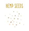 Hemp seeds vector
