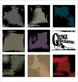 Grunge backgrounds - set vector
