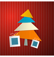Christmas retro background vector