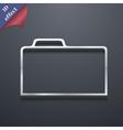 Document folder icon symbol 3d style trendy modern vector