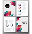 Colorful design template for a business project vector