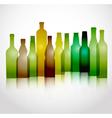 Glass bottles vector