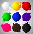 Colorful bubble balls web button vector
