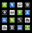 Web navigation icons vector