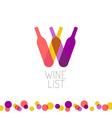 Wine list restaurant menu title transparent style vector
