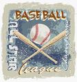 Baseball league grunge vector