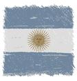 Flag of argentina handmade square shape vector