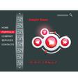 Web design multimedia gui vector