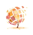 Autumn tree abstract icon vector