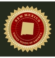 Star label new mexico vector