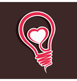 Creative love sticker vector