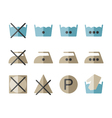 Set of instruction laundry icons washing symbols vector