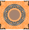 Ornamental round lace in ethnic style vector