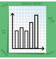 Graph with mathematics icons vector