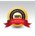 100 satisfaction guaranteed label or sign vector