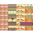 Hindu patterns set vector