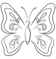 Butterfly contours vector