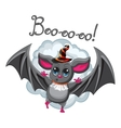 Bat halloween hat on a white background vector