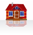 House on white background vector