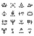 Meet icons vector