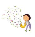 Saxophone player vector
