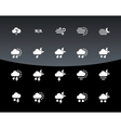 Weather icons on black background vector