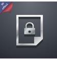 File locked icon symbol 3d style trendy modern vector