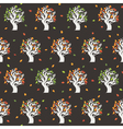 Seamless retro tree pattern vector