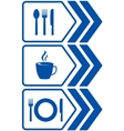 Road food sign with arrow vector