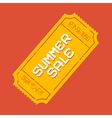 Summer sale ticket vector