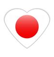 Japan flag button vector