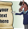 Horse introducing vector