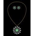 Pendant and earrings vector