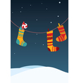 Christmas stocking invitation vector