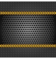 Metallic background template perforated iron sheet vector