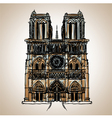 Notre dame cathedral paris vector