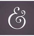 Custom ampersand vector