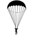 Parachute silhouette vector
