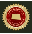 Star label north dakota vector