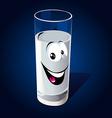 Glass of milk vector