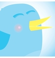 Social network blue bird media concept vector