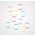 Background with squares and circles vector