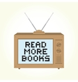 Read more books retro television vector