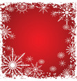 Winter grunge snowflakes background vector