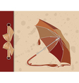 Open umbrella on vintage background vector