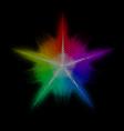 Mosaic star vector