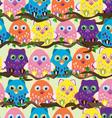 Seamless owl vector