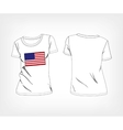 Usa flag t-shirt vector