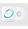 Blank white compact disk vector