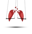 Lover birds - valentines day card vector